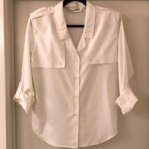 Diane Von Furstenberg Vintage White long sleeves